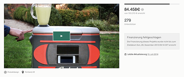 crowdfunding a startup: a cooler that wasn' t so cool