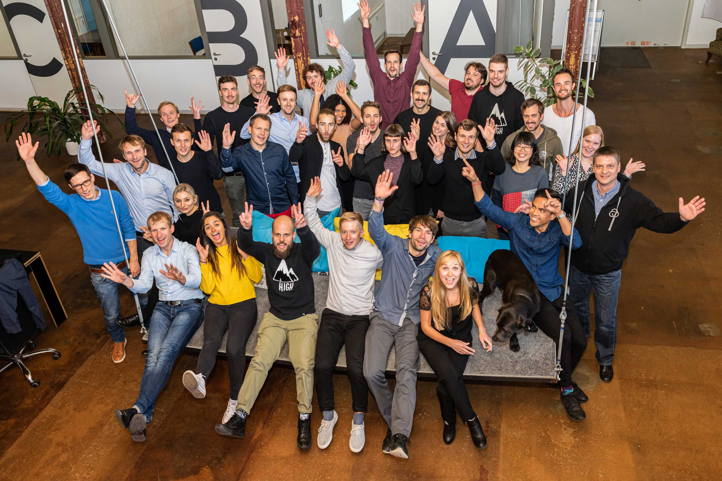 spinlab startups on their welcome day